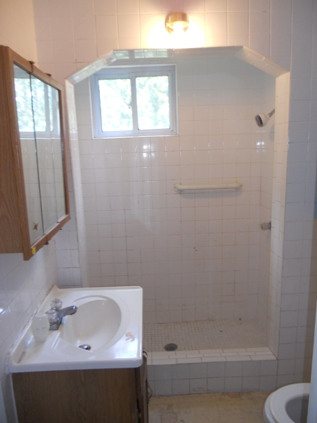 Small bathroom in-between the main floor bedrooms.